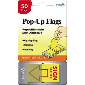 SIGN HERE FLAGS POP-UP FLAGS - PACK of 200 Flags